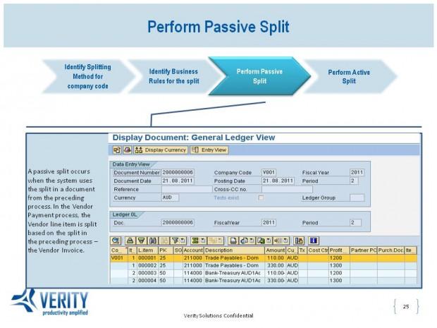 Perform Passive Split