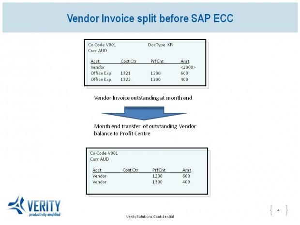 Document Splitting in SAP new GL - Vendor Invoice split before SAP ECC