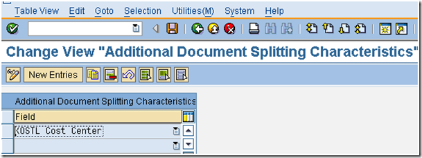 Document Splitting Characteristics for Controlling