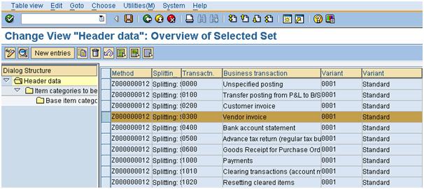 Document Splitting - Rule Header
