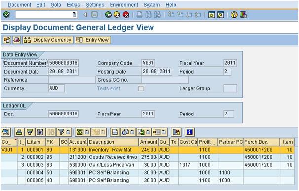 Document Splitting Process in SAP new GL