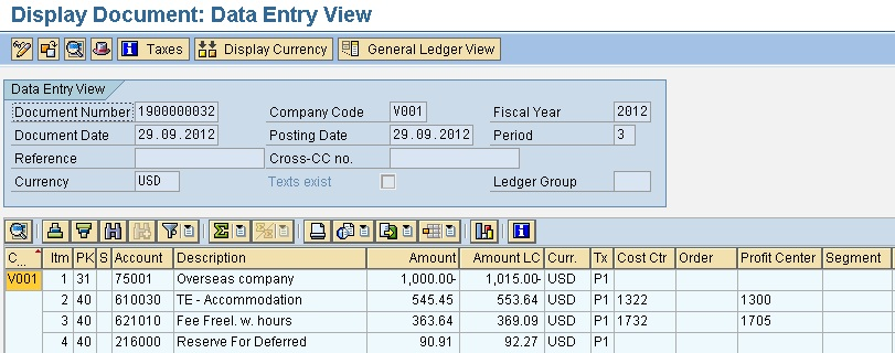 Vendor Invoice in foreign currency